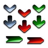 Tlačítka se šipkami vektor — Stock vektor