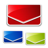Vecteur message étiquettes — Vecteur
