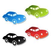 Vector stickers of car — Stock Vector