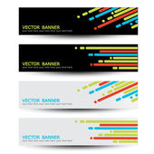 Vector set of headers — Stock Vector