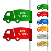 Vector cars of free delivery — Stock Vector