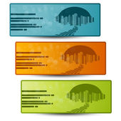 Vector banners with design of city — Stock Vector