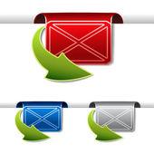 Fitas de vetor de envelope — Vetorial Stock