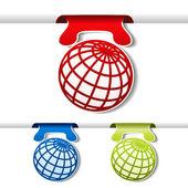 全球各地的矢量磁带 — 图库矢量图片