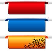 Vektor-reihe von banner — Stockvektor