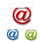 Vettore adesivi del contatto — Vettoriale Stock