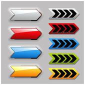 Vector set of arrow buttons — Stock Vector