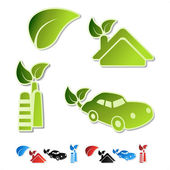 Vector symbols of ecology (bio, eco, natural, organic) — Stock Vector