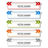 Vector set of color banners with arrows — Stock Vector