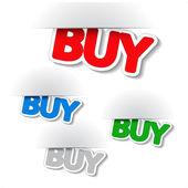 Vector fixed buy labels — Stock Vector