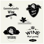 Etykiety wektor wino — Wektor stockowy