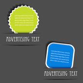 Vecteur publicitaire étiquettes — Vecteur