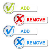 Vector add remove item — Stock Vector