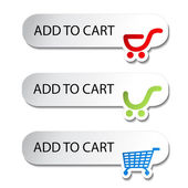 Vector shopping cart item - add buttons — Stock Vector
