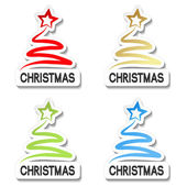 Vector Christmas offer stickers — Vetor de Stock