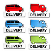 Vector transport pointers - car delivery — Stock Vector