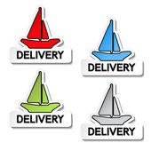 Vektor transport pekare - fartyg leverans — Stockvektor