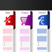 Vector menu navigation labels - web template — Stock Vector