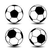 Vector soccer balls — Stock Vector