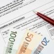 Application form for housing allowance with ballpoint-pen — Stock Photo