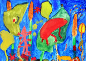 Childrens drawings — Foto Stock