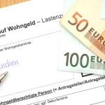 Housing allowance application — Stock Photo