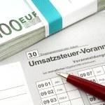 German tax form for VAT-declaration — Stock Photo #11741154