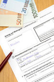 Housing allowance application — Stock Photo