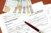Application form for family credit — Stockfoto