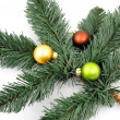 Royalty-Free Stock Photo: Fir branch with christmas decoration