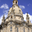 "The Dresdner Frauenkirche (""Church of Our Lady"") in Dresden — Stock Photo"