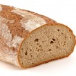 Loaf of a German bread in front of a white background — Stock Photo