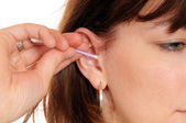 Ear cleaning — Stock Photo
