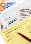 Income tax card — Stock Photo