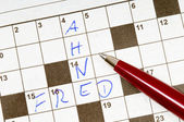 Crossword puzzle — Foto Stock