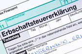 German death tax — Stock Photo