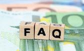 Letters FAQ — Stock Photo