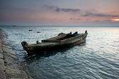 Abandoned the boat — Stock Photo