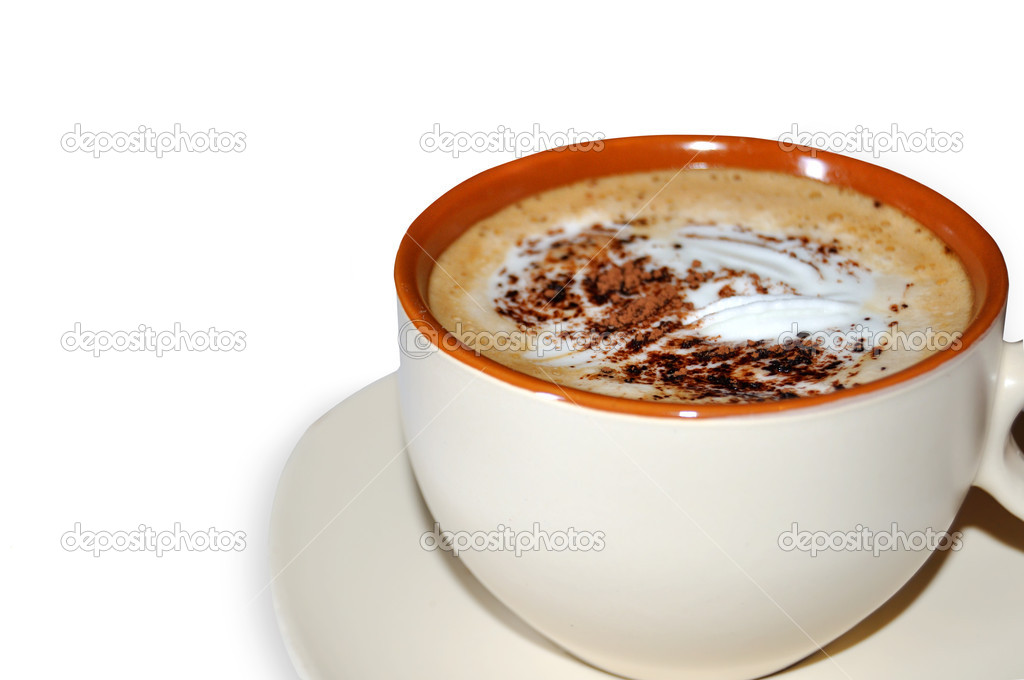 Coffee collection-Cappuccino cup isolated on white background  Stock Photo #12002914