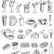 Food and drink vector set — Stock Vector #11567712