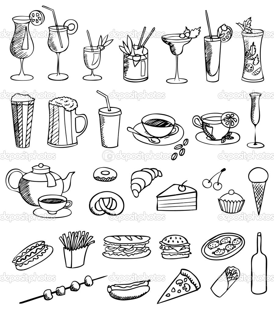 Food and drink vector set  Stock Vector #11567712