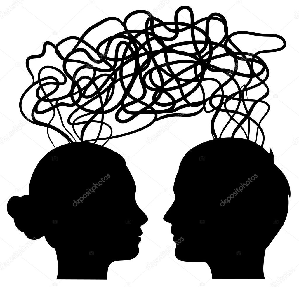 Man and woman thinking on same way, idea concept, vector  Stock Vector #11567723