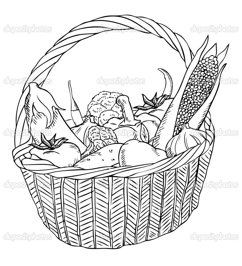 Basket with different vegetables vector — Stock Vector #11649580