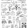 Health and medical vector set — Vector de stock #11806336