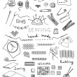 Hand made and needlework vector set - Stock Vector