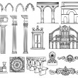 Stock Vector: Architecture and ornaments vector set