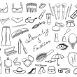 Beauty and fashion items vector set - Imagens vectoriais em stock