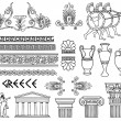 Greece architecture and ornaments vector set — Image vectorielle