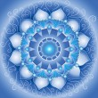 Royalty-Free Stock Vector Image: Abstract blue pattern, mandala of vishuddha chakra vector