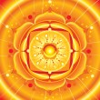 Royalty-Free Stock Vectorielle: Bright orange mandala of svadhisthana chakra vector